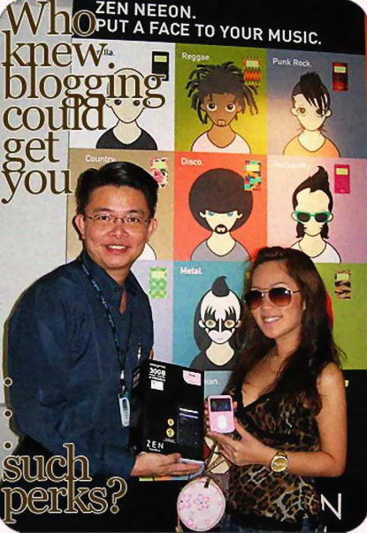 Xia Xue got her MP4 player from Creative