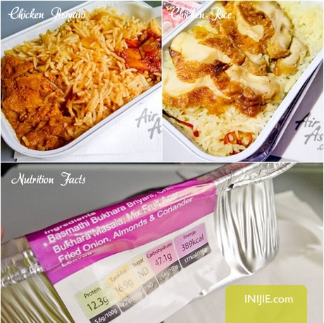 air asia meals chicken briyani uncle chin chicken rice
