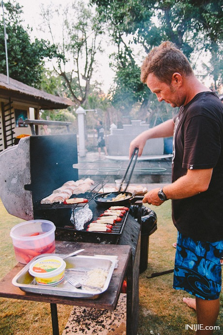 Johnny Rip Curl on the Grill